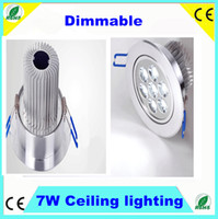 Wholesale 7W led ceiling light Dimmable W Lm spot light for home office warm cold white LED ceiling downlight lamp V V CE RoHS SAA