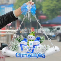 Wholesale M114 Christmas tree decorations Christmas products large small skateboard pendant Christmas venue decoration supplies