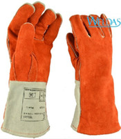 working gloves split leather - Insulating Heat General Purpose Split Cowhide Leather lining Working Welding Gloves