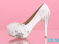 red bottom shoes - Red Ivory tassel pearl flower bridal wedding shoes high heeled shoes waterproof non slip bottom line with shallow mouth