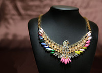 Beaded Necklaces Women's Fashion 2014new High Quality Women Luxury Costume Fashion Chunky Necklaces & Pendants Chokers Crystal birds Gorgeous Statement jewelry