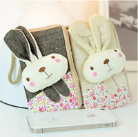 Wholesale Change bag cute rabbit cartoon phone Korean cartoon rabbit pattern can be linked to Apple iphone mobile phone bag