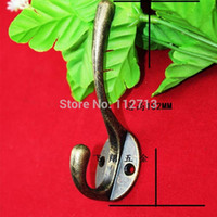 Wholesale Antique thick utility single coat wall hooks zinc alloy big load hook