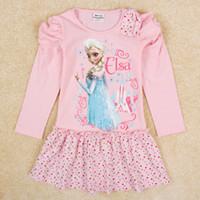Cheap TuTu Snow and ice dress Best Winter A-Line girls longsleeved dress