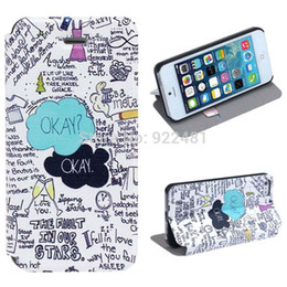 Wholesale 2014 New Arrival Fashion OKEY Letter Graffiti Pattern Hard Leather Case Cover for iphone S G