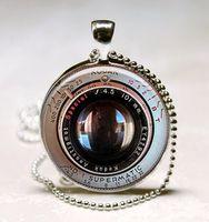 Pendant Necklaces art lens - Camera lens Necklace Photographer Gift Black Camera Pendant Photo Jewelry Gift for Him or Her Photo Pendant Art Pendant Glass