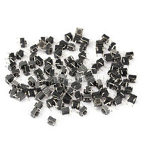 60704 As picture show High quality 100pcs Tactile Push Button Switch Momentary Tact 6x6x5mm DIP Through-Hole 4pin H