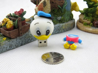 Wholesale Retail free package of mail U Disk Pen Drive Animal Cartoon Duck Usb Flash Drive gb gb gb gb gb Donald Duck Pendrive Gift