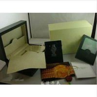 Wholesale Luxury dark freen Watch Box Gift case for rolex watches booklet card s and papers in english rl