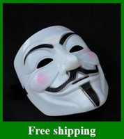 Wholesale Top quality Popular V Mask Vendetta party Masks V Mask Vendetta party mask Halloween Mask Party Face Mask Halloween Mask Super Scary