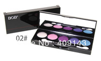 2 1 eye shadow Wholesale-Women Ladies Pro Eye Shadow Set Eyeshadow Beauty Make up Famous Brand BOB Palette Brush 2# High Quality Night club decoration