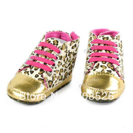 Wholesale Children Baby Shoes toddler padded Gold Leopard Soft Sole First Walkers Prewalker the foot wear shoes for girls baby boot