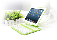 Wholesale removable with degree rotating Silicone Bluetooth Keyboard Leather Case p3000 for iPad