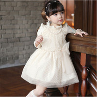 TuTu Spring / Autumn Ball Gown Autumn 2014 Korean version of the new children's clothing children dress children long-sleeved dress with a bow princess Factory Outlet