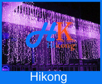 Wholesale Hot Sales m m Led Curtain Light String Christmas Wedding Party Holiday Backdrop Decoration String Fairy Lights With US EU AU UK Plugs