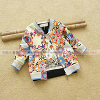 Jackets Unisex Spring / Autumn Chinese Style Autumn Children Kids Girls Boys Clothes Cotton Baseball Jackets Pocket Coat Overcoat Causal Outwear Blue Red Cloth K0979