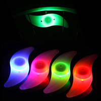 Wheel Lights LED <100 LM Hot Bike Bicycle LED Lights Motorcycle Electric car Wheels Spokes Lamp Silicone 4 colors flash alarm light cycle accessories Free
