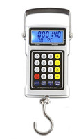 <50g Pocket Scale Shanghai China (Mainland) Wholesale-Free shipping 50kg LCD multifunction digital scale(weighing+price+calculator+clock+temperature+tape measure)50kg fishing scale