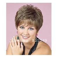 Light Brown Straight SY-006 Free Shipping New Stylish Heat Resistant Light Brown Short Straight Lady's Fashion Sexy Party Cosplay Synthetic Hair Wig Wigs