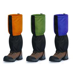Открытый водонепроницаемый ветрозащитный Гетры ног Защита гвардии для лыжах Пешие прогулки Восхождение Оранжевый / зеленый / синий H11646