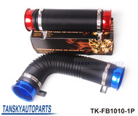 Wholesale Tansky Universal Turbo Multi Flexible Air Intake Pipe mm Red Blue Silver The default color is Blue TK FB1010 P