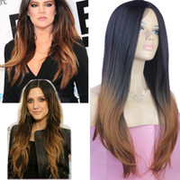 Synthetic Hair Wig,Half Wig Rihanna's Hairstyle cheap wigs two-tone 2R30 Fashion ombre celebrity wig big wave female elegant wigs wavy wig synthetic,wholesale Free Shipping