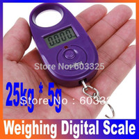 <50g Pocket Scale Yes 25kg*5g Mini Electronic Portable Luggage Fishing Weighing Digital Pocket Scale KG LB