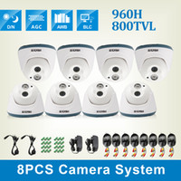 Wholesale ZOSI CCTV Dome camera kit TVL HD H quot CMOS mm lens Array IR leds nightvision ft Indoor security camera system