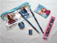 Wholesale Retail Factory sell Frozen stationery set for School Supplies Frozen Pencil Cases Frozen Bags Frozen Ruler Frozen Pencils