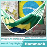 Nylon Guangdong,China(Mainland) 1000g Multinational Portable Outdoor Camping Hiking Travel Tourism Cotton Rope Swing Single Leisure Hammock Canvas Bed 280*100