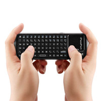 Wholesale iPazzPort Keys Mini Handheld Wireless Bluetooth Keyboard Touchpad Scroll Bar for Smart TV Tablet PC DHL LY