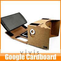 Wholesale 1piece New DIY Google Cardboard Virtual Reality Mobile Phone Gglasses for d Glasses High Quality