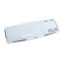 Wholesale Wireless Bluetooth Keyboard With Touchpad Mouse IR Learning Remote Control White DHL LY