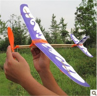 model airplane - Novelty Thunderbird rubber band powered model airplane aircraft DIY stereoscopic science toy airplane model aircraft