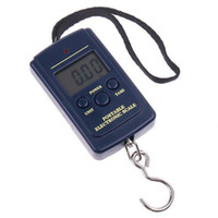 <50g   Wholesale-LCD 20g-40Kg 20 g 40 KG Digital Hanging Luggage Fishing Weight Scale Waage Kitchen Scale