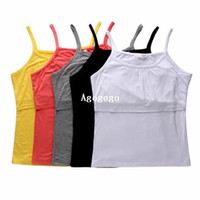 Women spaghetti strap tank top - New Mummy Clothes Breast Feeding Tops Clothing Nursing Camis Tanks Vest Spaghetti Strap Basic Shirt loading tees