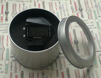Transparent lid hat boxes - Circular Iron Watch Boxes High grade Packaging Gift Boxes Transparent Hat Iron Priced Direct Selling Tin Watch Box Free the Sponge