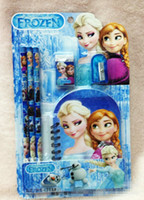 Wholesale Factory sell Frozen stationery set for School Supplies Frozen notebook Frozen Frozen Ruler Frozen Pencils