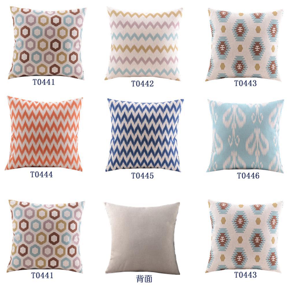 Throw Pillow Covers 25x25 : Home Decor Cotton Linen Decorative Throw Pillow Cover Cushion Cover Simple Chevron & Geometric ...
