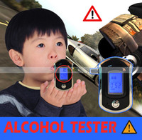 Wholesale Portable Professional Smart Alcohol Tester LCD Digital Breath Alcohol Tester Breathalyzer Black AT