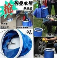 Wholesale Folding bucket car wash car bucket outdoor portable fishing bucket washing bucket retractable car wash canvas supplies