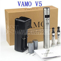 Wholesale Vamo V5 Updated Lava Tube E Cigarette Mod Electronic Cigarette With LCD Variable Voltage Mechanical Mod E Cigarette Battery Vaporizer Pen