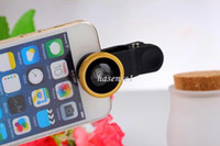 Wholesale Universal in1 in Clip On Fish Eye Lens Wide Angle Macro Mobile Phone Lens For iPhone Samsung Galaxy S4 S5 All Phones fisheye