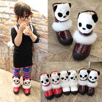 Wholesale Winter Boots Children Korean Style Cartoon Bear Thick Warm Shoes Kids Fashion Leisure Girs Shoes Size Pairs