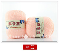 Filters Yes other Free Shipping New 3 balls Wholesale Sweater new Silk wool cashmere warm soft baby yarn Knitting 28 Pale pink