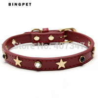 antique dog collar - real leather punk star beads dog collar alloy buckle antique plated pet products for dogs