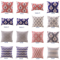 Wholesale Home Decor Cotton Linen Decorative Throw Pillow Cover Cushion Cover Indian Multi Floral Designs Square quot mynl057