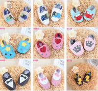 leather soles for shoes - Choose Color Size Free New arrival Baby Infant Toddler Animal Soft Sole Leather Shoes Cow Leather Baby First Walker Shoes for T