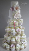 Wholesale 5 Tier Acrylic Cupcake Stand Pastry Display Shelf Wedding Cupcake Stand Birthday Party Cupcake Stand