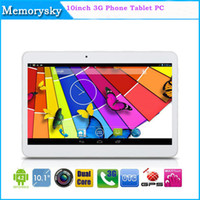 Wholesale 10 inch WCDMA G Call Phone Tablet PC G G MTK6572 Dual Core Ghz android GPS bluetooth Wifi Dual Camera SIM Card Slot Phablet